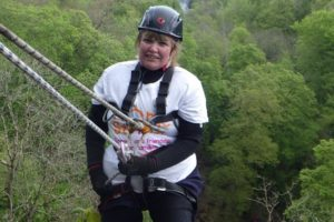 Crazy Nanna and her abseil
